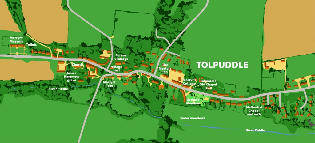 Tolpuddle map 2014 chapel trust