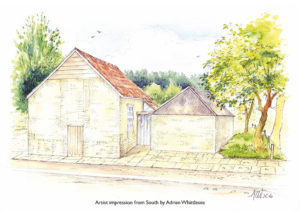 artist's impression of the completed chapel