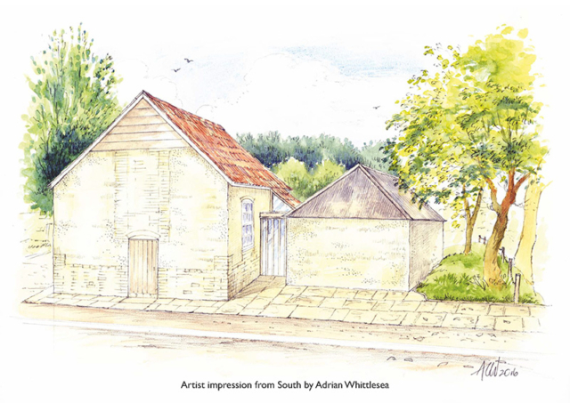 Artist's impression of the Tolpuddle Old Chapel exterior
