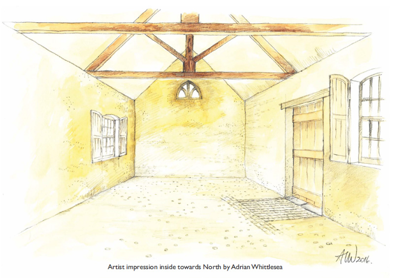 Artist's impression of the Tolpuddle Old Chapel interior